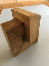 'Love Knot' wood sculpture in Oak by David Boyd FRSC