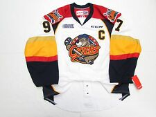 ERIE OTTERS AUTHENTIC WHITE ANY NAME / NUMBER CCM EDGE 2.0 7287 HOCKEY JERSEY