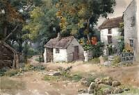 JOSEPH TWIGG (1844-1914) Watercolour Painting IVY COTTAGE PENMAEN WALES c1910