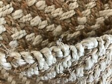 Hand Woven Jute Area Throw Rug Carpet Thick Durable