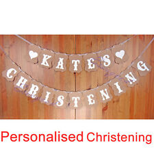 Handmade Personalised Christening Bunting Decoration Party Banner Church