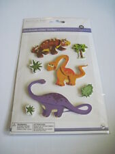 Scrapbooking Crafts Fit Stickers Dimensional Kids Dinosaurs Brontosaurus Happy