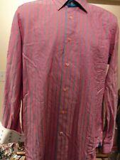 Robert Graham Button Down Shirt Men's Striped 100% Cotton Size M/L
