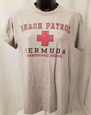Delta Pro Weight Mens Beach Patrol Bermuda Horseshoe Beach T-Shirt Size S