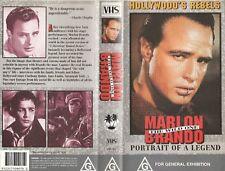 MARLON BRANDO THE WILD ONE PORTRAIT OF A LEGEND AS NEW RARE  PAL VHS VIDEO