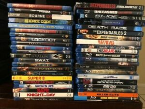 Huge Blu-ray Lot (43) Movies Action Adventure Drama Romance Used Excellent Shape