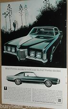 1969 Pontiac advertisement page, Pontiac Grand Prix 2-door hardtop