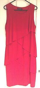 👗 Liz Jordan Red Dress Evening Sleeveless Size L Womens Clothing Below Knee