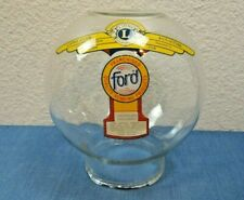 Glass Globe For Ford & Other Gumball Machine 10 or 1 Cent Vtg Lions Club Chipped