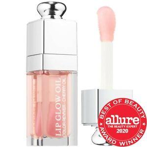 Dior Lip Glow Oil in shade 001 Pink size 0.2 oz/ 6 mL TST NWB
