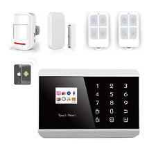KIT Alarme Maison Sans Fil GSM SMS Android Iphone + Détecteurs + Télécommandes