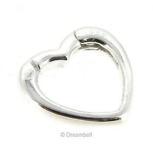 Sterling Silver Pearl Necklace Enhancer Shortener Heart Clasp Pendant Connector