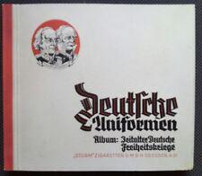 Sammelalbum -Deutsche Uniformen- Komplett/Sturm Zigaretten!Freiheitskriege!