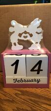 Mickey And Minnie Mouse Block Calendar