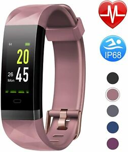 LETSCOM High-End Fitness Trackers HR, IP68 Waterproof Fitness Watch with Heart R