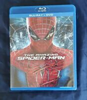 The Amazing Spider-Man (Blu-ray/DVD, 2012, 3-Disc Set, No Scratches