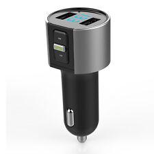 Coche Bluetooth Transmisor de FM Inalámbrico Radio Adaptador De Audio Doble