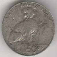 1901 Belgium 50 Centimes | European Coins | Pennies2Pounds