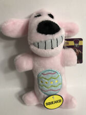 """Multipet Loofa Dog Toy  DOG WITH SQUEAKER 6"""" Pink - Easter Design"""