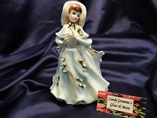 Vintage 1950s Lefton Lady Figurine Planter Figurine 1449