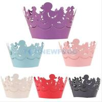 12Pcs Cake Cupcake Wrappers Wraps Cases Wedding Birthday Baby Shower Supplies