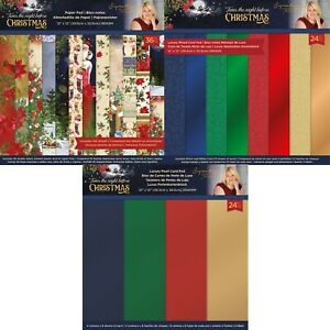 Crafters Companion Twas The Night Before Christmas SARA SIGNATURE 12 x 12 Paper