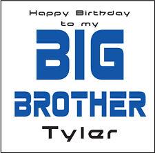 BIG BROTHER PERSONALISED BIRTHDAY CARD