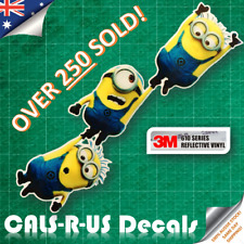 JDM Despicable Minion Bros Hanging Car Drift Decal Sticker 3M Reflective. 220mm