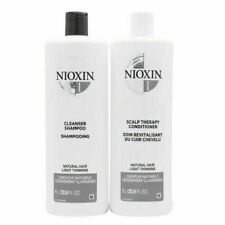 NIOXIN System 1, 2, 3, 4, 5,  or 6 Cleanser & Scalp Therapy 33.8oz Duo Set