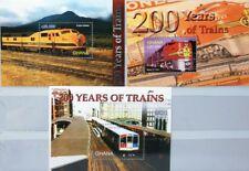 GHANA 2005 Block 469-72 S/S 2467-70 Trains Züge Locomotives Railroad Eisenbahn**