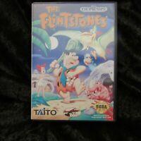 The Flintstones Sega Genesis With Box No Manual Damaged Label