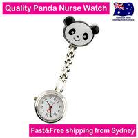 Panda Nurse Watch Chrome Panda Design For Pouch Pocket Bag wt Clip Free Battery