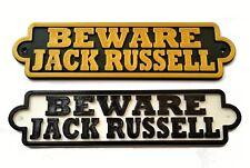 Beware Jack Russell 3D Dog Plaque- House Door Garden Gate Sign L