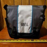 Nintendo Wii Console Travel Storage Carrying Case Messenger Bag Gray