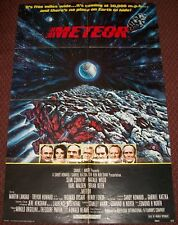 Meteor 1979 Vintage 1-Sheet Theatrical Poster 27x41 Sean Connery Natalie Wood
