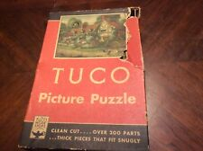 1930s Tuco Picture Puzzle Mary Ardens Cottage Complete In Box