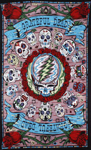 """Grateful Dead 3D Tapestry """"Mexicali Skulls"""" 60 x 90  - FREE PRIORITY MAIL"""