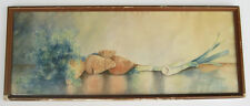 ANTIQUE c1915 Watercolor Painting Still life VEGETABLES Onions by P. Weisinger