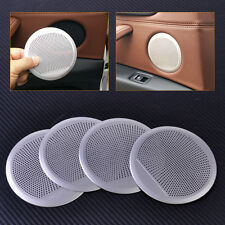 4pcs Door Car Speaker Decorative Circle Trim Cover for BMW X5 X6 F15 F16 14-16