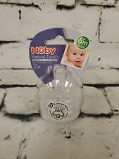 Nuby Natural Touch Bottle Nipples With Storage Case 2x 6+ Months