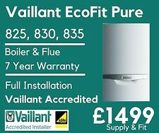 Vaillant EcoFit Pure 825, 830, 835 Combi Gas Boiler From £1499 (Supply & Fit)