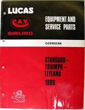 Lucas TRIUMPH/LEYLAND/STANDARD - Car Equipment & Spare Parts - 1966 - CCE902/66