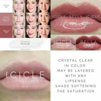 LipSense SeneGence *Icicle* Retired Lip Color AUTHENTIC NEW FULL SIZE Clear Coat