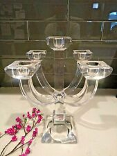 Villeroy & Boch Candelabra 5-Candle Stick Holder Crystal Glass Clear