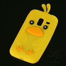 Samsung Galaxy Ace Plus S7500 Silikon Case Schutz Hülle Etui Chicken Gelb Cover