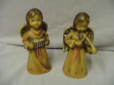 "Angels Playing Violin & According Ceramic Japan Around 6.25""x2.75"" Older"