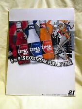 New listing Vtg Original 2004 Zima Xxx Malt Beverage Case Card Display Sign - New, Very Rare