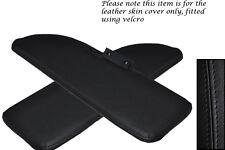 Noir coutures fits FIAT 500 CLASSIC 2x pare-soleil cuir couvre uniquement