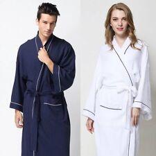 Men/Women's 100% Cotton Waffle Weave Spa Kimono Robes Bathrobes