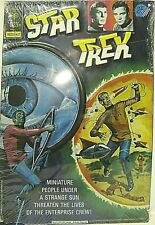 "Star Trek Gold Key Comic Cover Embossed Metal Tin Sign ""Miniature People."""
